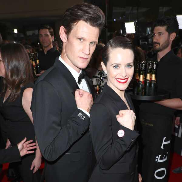 Matt Smith, Claire Foy, 2018 Golden Globes, Candids