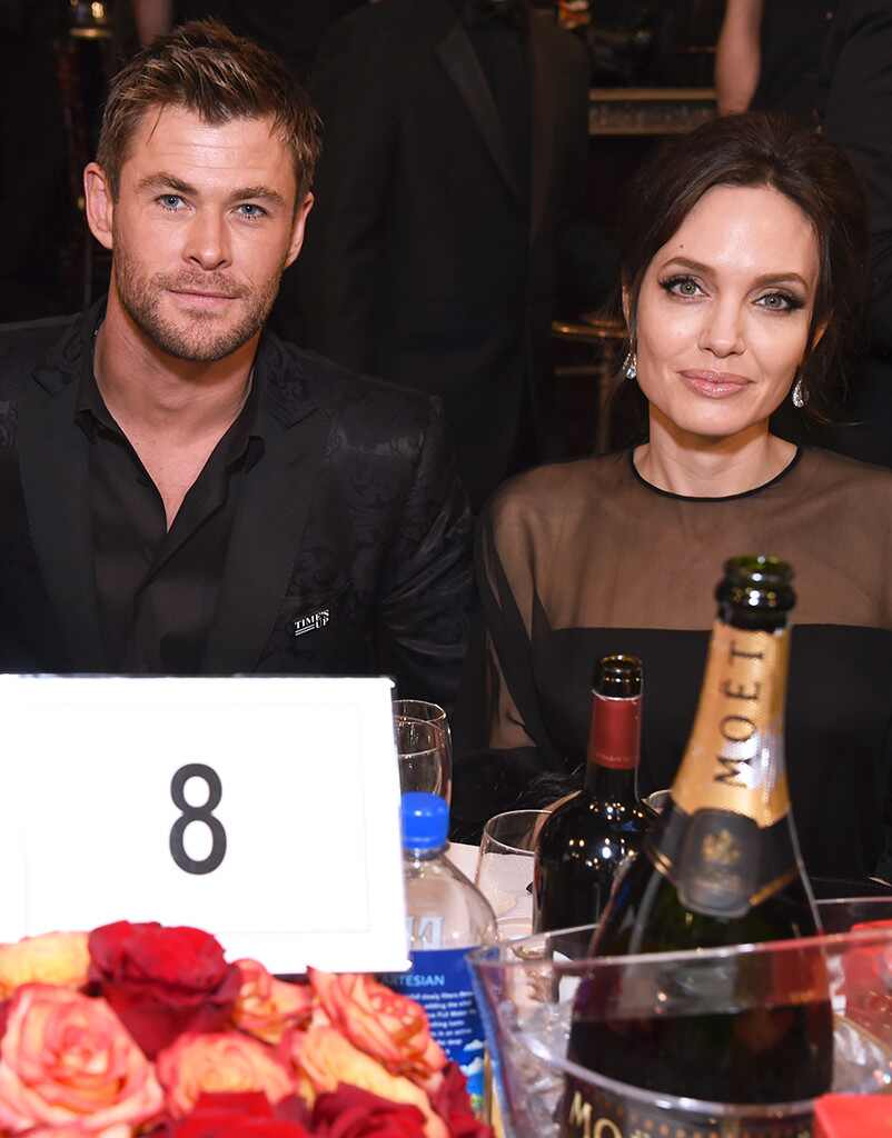 Chris Hemsworth, Angelina Jolie, 2018 Golden Globes, Candids