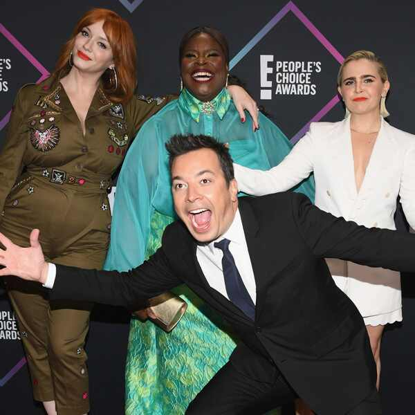 Christina Hendricks, Retta, Mae Whitman, Jimmy Fallon, 2018 Peoples Choice Awards, PCAs, Candids