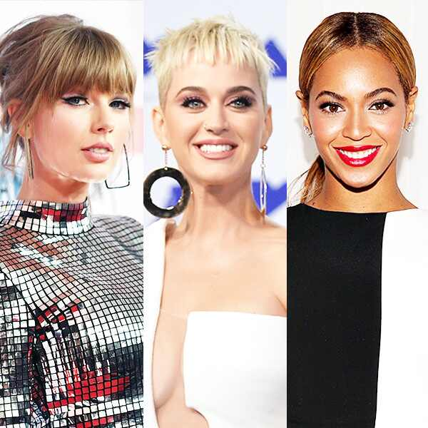 Taylor Swift, Katy Perry, Beyonce