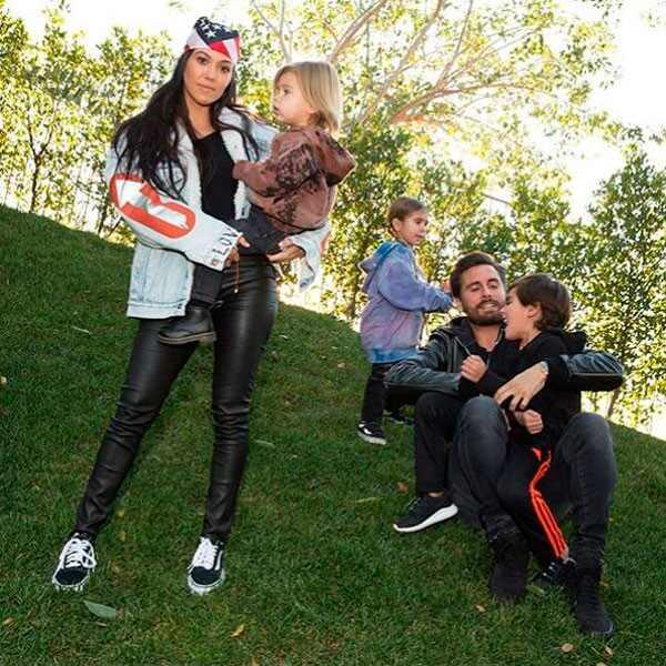Kourtney Kardashian, Scott Disick, Mason Disick, Penelope Disick, Reign Disick, Family