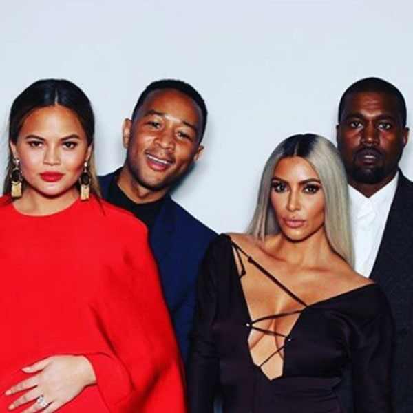 Chrissy Teigen, John Legend, Kim Kardashian, Kanye West
