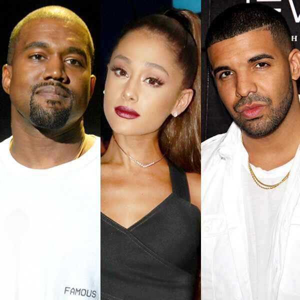 Kanye West, Ariana Grande, Drake