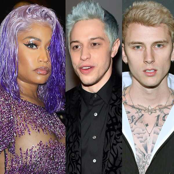 Machine Gun Kelly, Nicki Minaj, Pete Davidson