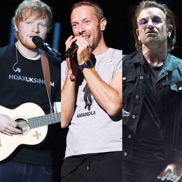 Ed Sheeran, Chris Martin, Bono