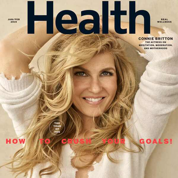 Connie Britton, Health Magazine