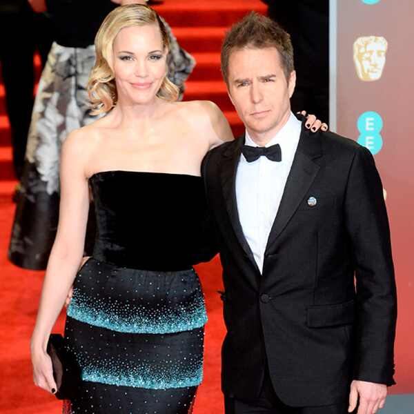 Leslie Bibb and Sam Rockwell, BAFTAs, 2018
