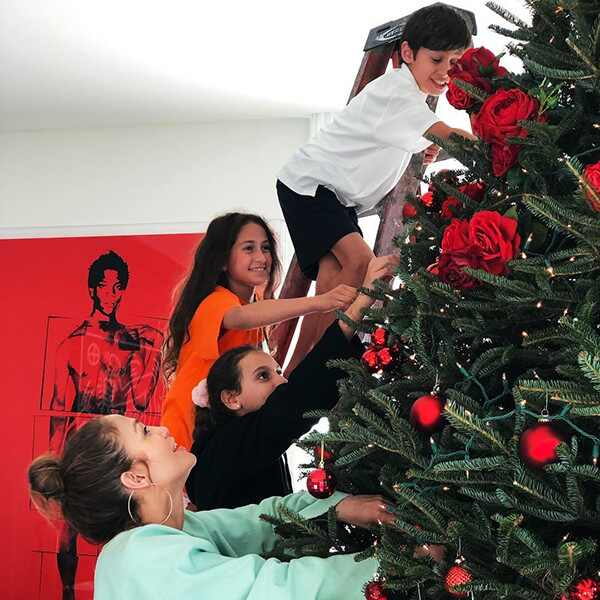Jennifer Lopez, Kids, Christmas, 2018