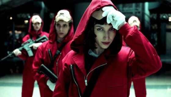 Papel. Foto do site da E! Online que mostra Saiba mais sobre o elenco de La Casa de Papel
