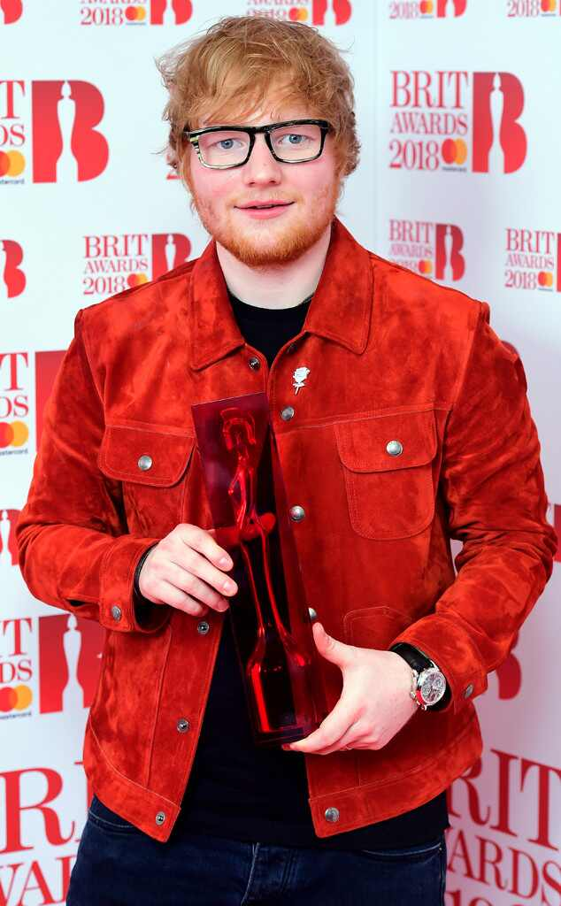 Ed Sheeran, 2018 Brit Awards, winners
