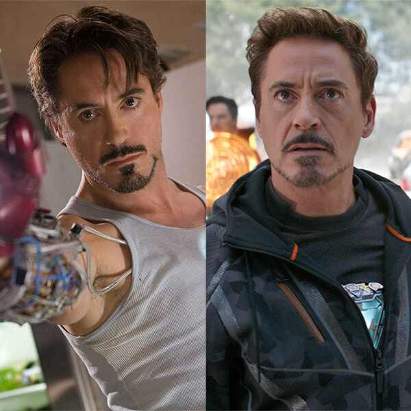 Robert Downey Jr., Iron Man, Avengers: Infinity War, Avengers Then and Now