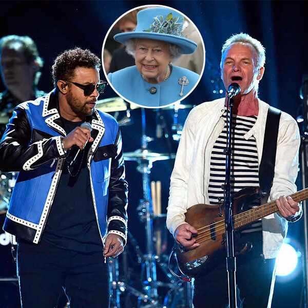 Queen Elizabeth, Shaggy, Sting, 2018 Grammy Awards, Performances