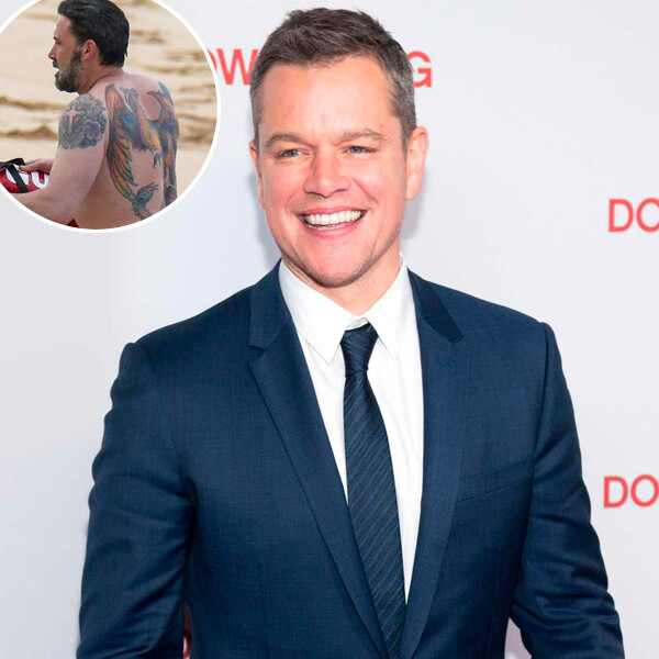 Matt Damon, Ben Affleck back tattoo