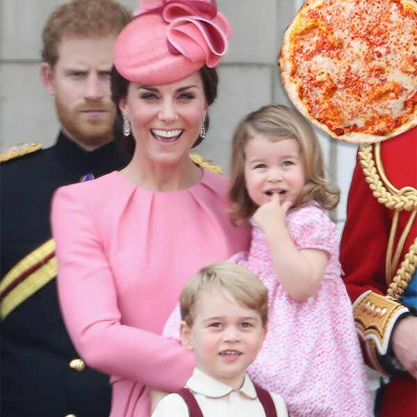 Kate Middleton, Prince George, Princess Charlotte, Pizza