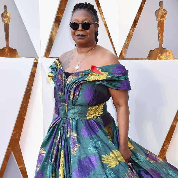 Whoopi Goldberg, 2018 Oscars, Red Carpet Fashions