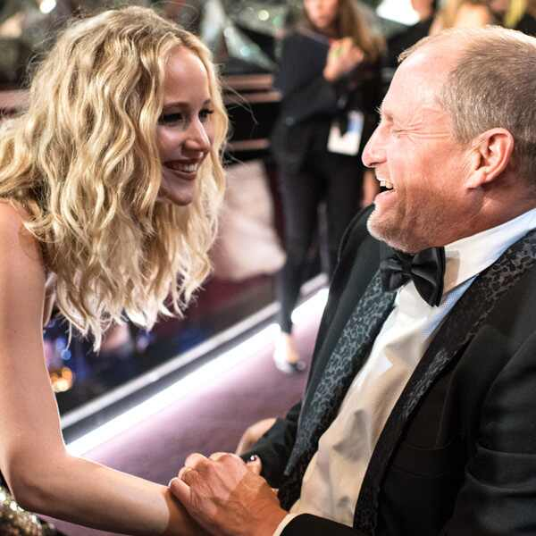 Jennifer Lawrence, Woody Harrelson, 2018 Oscars, Candids