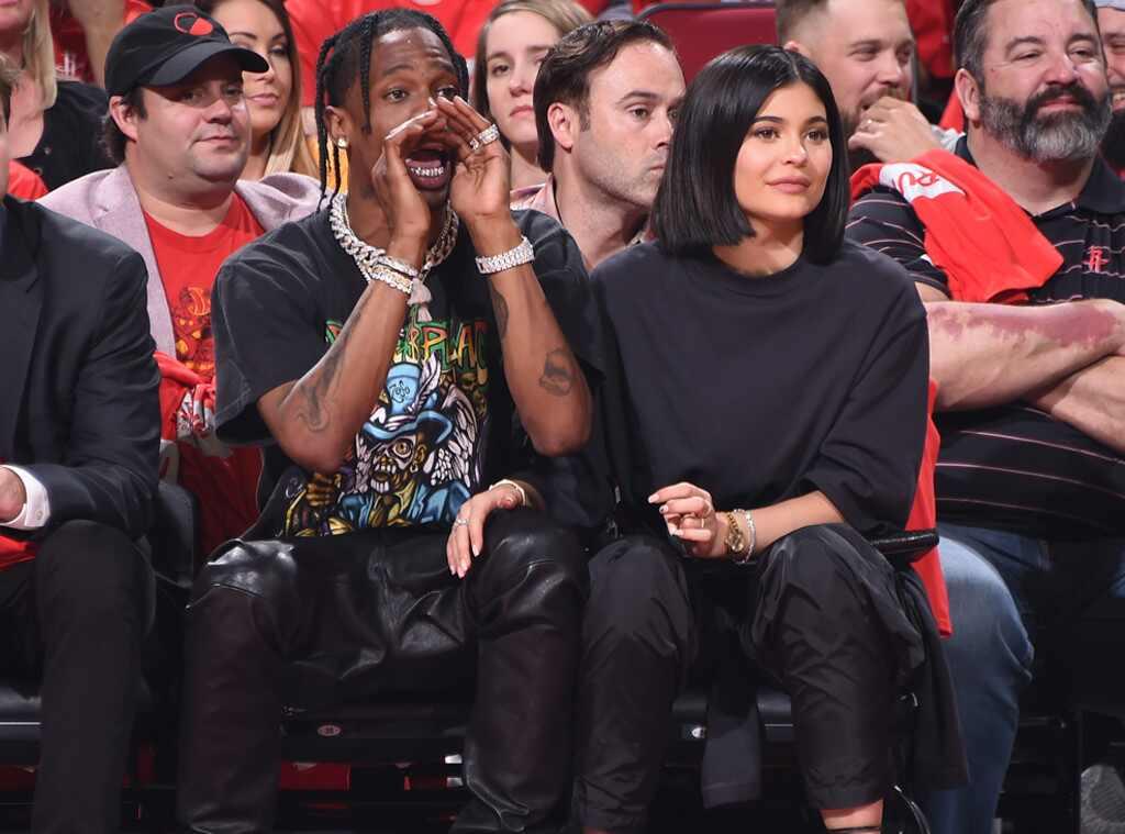 Travis Scott, Kylie Jenner, Minnesota Timberwolves vs Houston Rockets Game