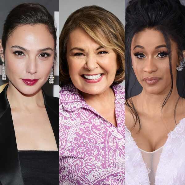 Gal Gadot, Roseanne, Cardi B