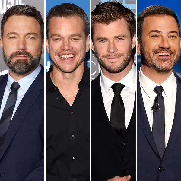 Ben Affleck, Matt Damon, Chris Hemsworth, Jimmy Kimmel