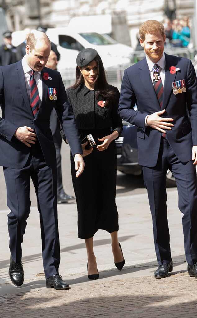 Prince William, Meghan Markle, Prince Harry, Anzac Day