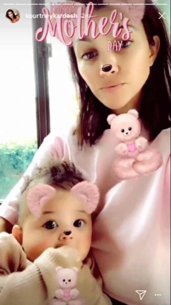 Kourtney Kardashian, Stormi Webster, Mother
