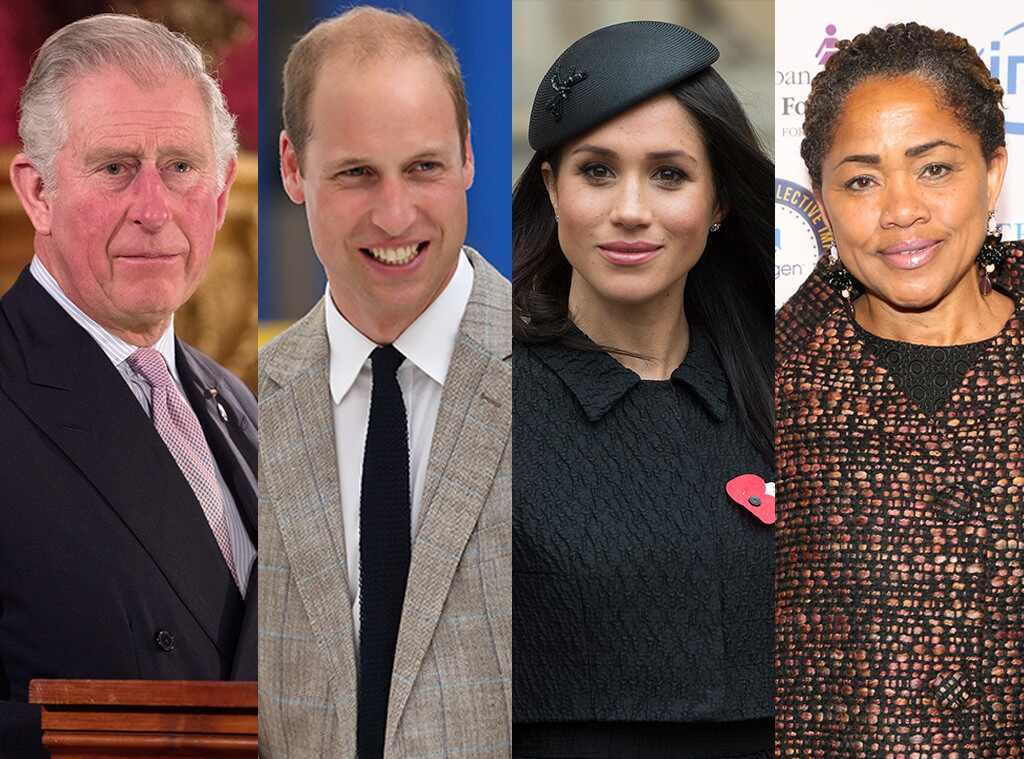 Prince Charles, Prince William, Meghan Markle, Doria Raglan
