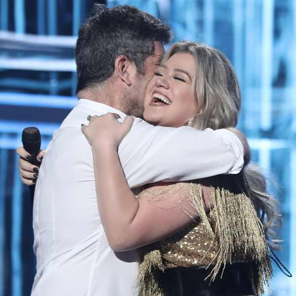 Simon Cowell, Kelly Clarkson, 2018 Billboard Music Awards