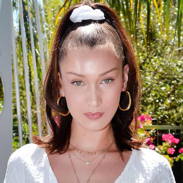 ESC: E!ssentials, Scrunchie Up-Do, Bella Hadid