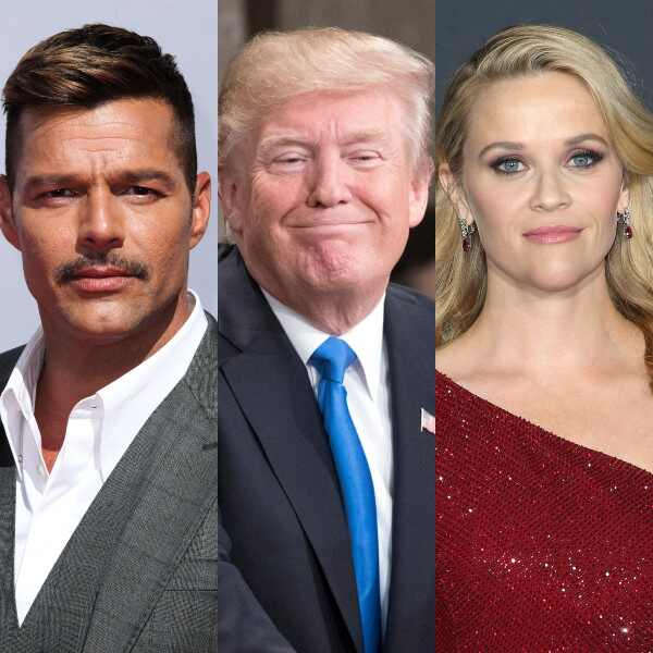 Ricky Martin, Donald Trump, Reese Witherspoon