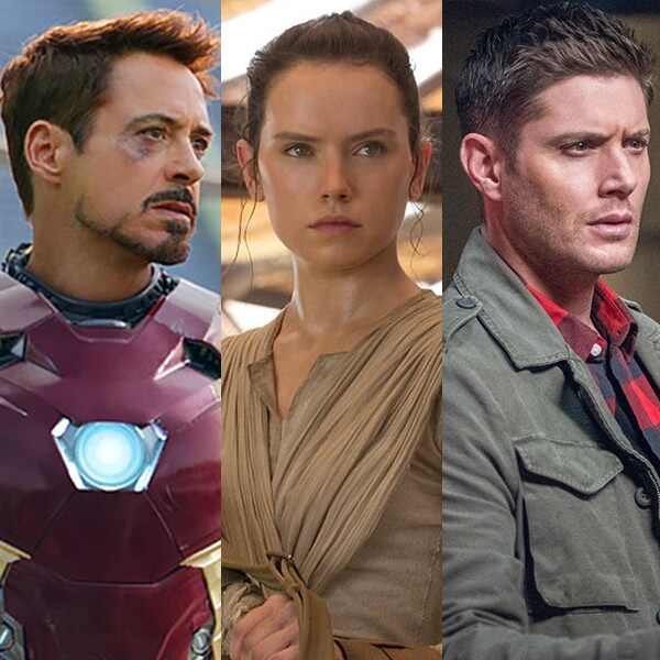 Robert Downey Jr, Iron Man, Kristen Stewart, Twilight, Daisy Ridley, Star Wars, Jensen Ackles, Supernatural, Comic Con