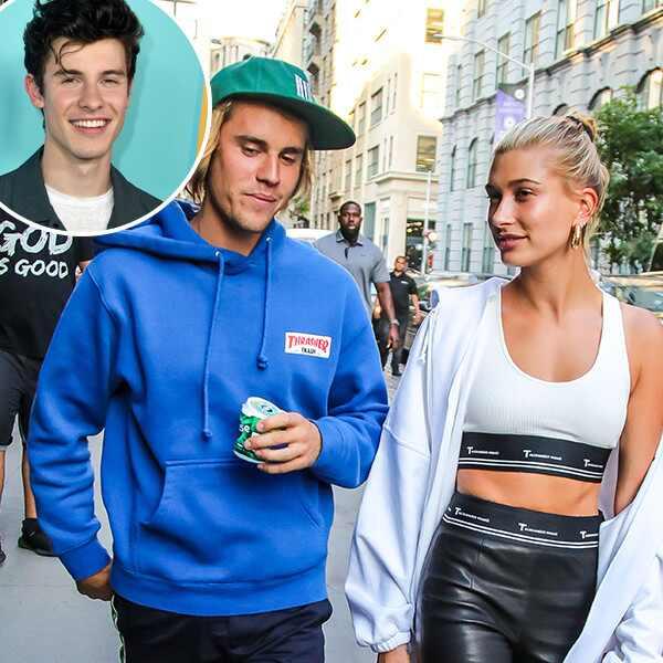 Justin Bieber, Hailey Baldwin, Shawn Mendes