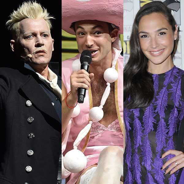 Johnny Depp, Ezra Miller, Gal Gadot, 2018 Comic Con