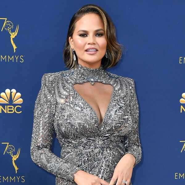 Chrissy Teigen, 2018 Emmys, 2018 Emmy Awards, Red Carpet Fashions