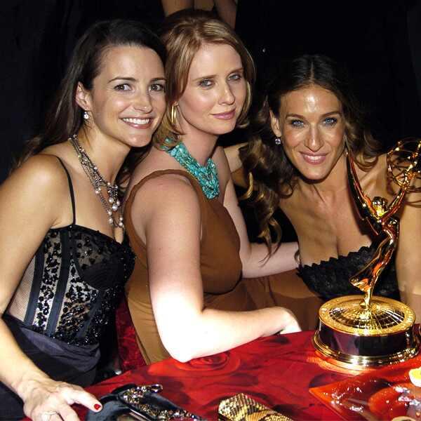 Kristin Davis, Cynthia Nixon, Sarah Jessica Parker, 2004 Emmy Awards