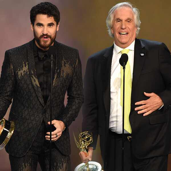 Darren Criss, Henry Winkler, 2018 Emmys, 2018 Emmy Awards, Winners