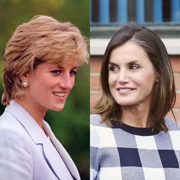 Princesa Diana, Reina Letizia