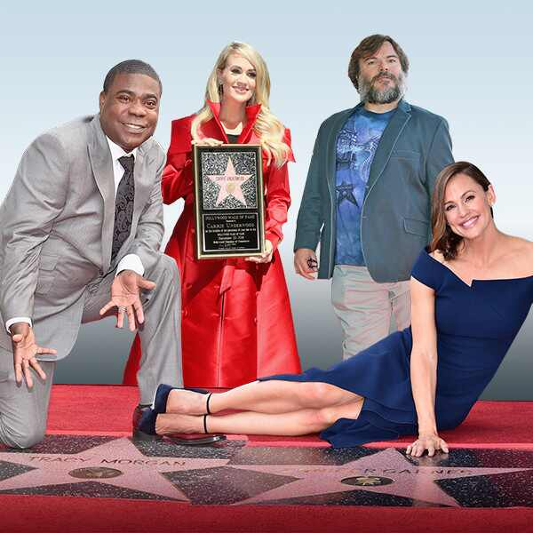Celebs With Their Hollywood Walk of Fame Stars