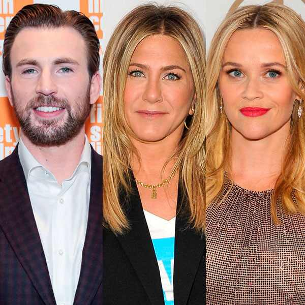 Chris Evans, Jennifer Aniston, Reese Witherspoon, Sara Bareilles, Octavia Spencer