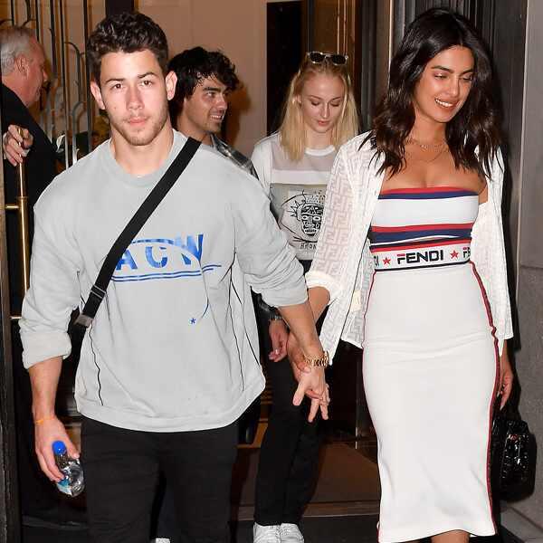 Nick Jonas, Joe Jonas, Priyank Chopra, Sophie Turner
