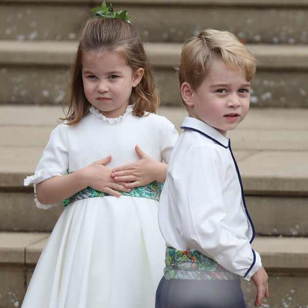 Princess Charlotte, Prince George, Princess Eugenie Royal Wedding