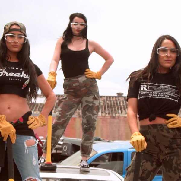 Paige, Nikki Bella, Brie Bella, Total Divas 805