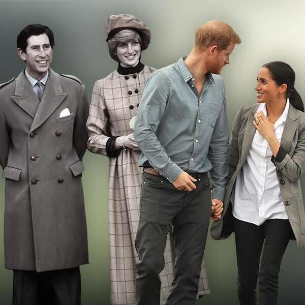 Prince Charles, Princess Diana, Prince Harry, Duchess Meghan Markle