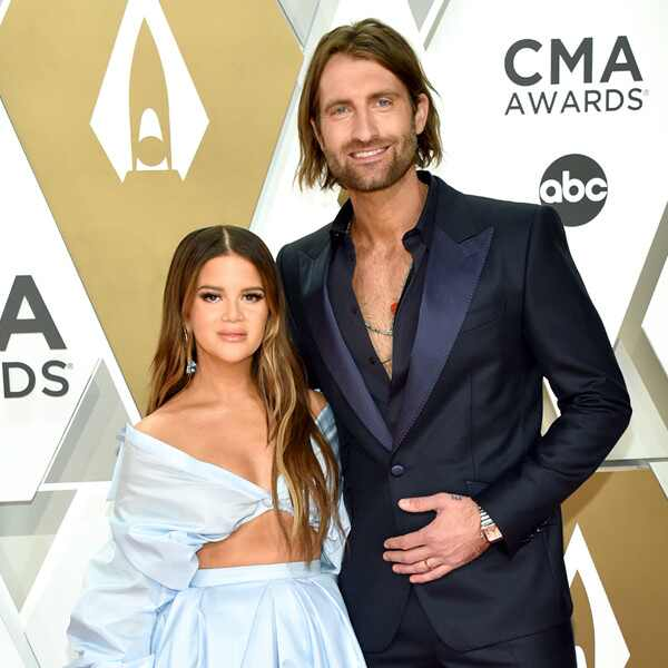 Maren Morris, Ryan Hurd, 2019 CMA Awards, Red Carpet Fashion, Couples