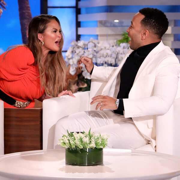 Chrissy Teigen, John Legend, The Ellen DeGeneres Show 2019