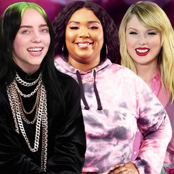 Billie Eilish, Lizzo and Taylor Swift