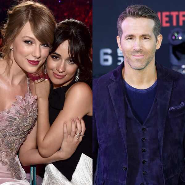Taylor Swift, Camila Cabello, Ryan Reynolds