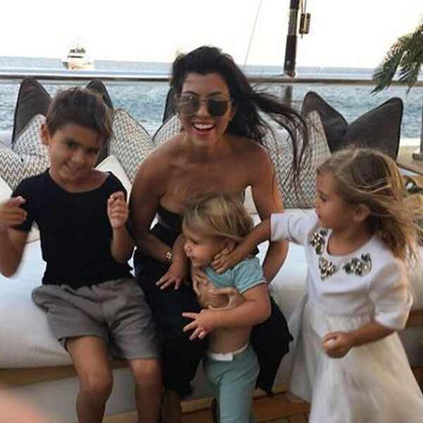 Kourtney Kardashian, Mason Disick, Penelope Disick, Reign Disick, Family