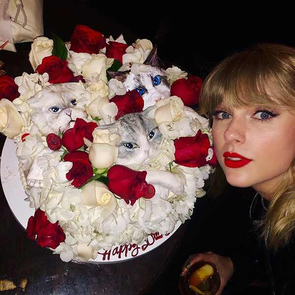 Taylor Swift, 30th Birthday, Party, Cake, Cats, Instagram