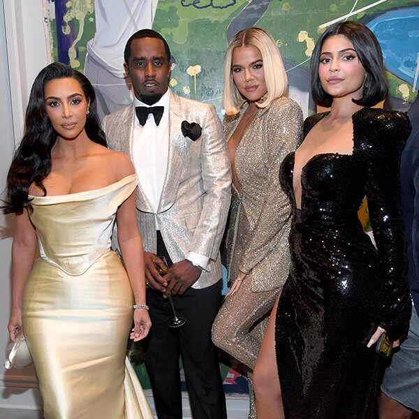 Kim Kardashian West, Sean Combs, Khloe Kardashian, Kylie Jenner, Sean Combs 50th Birthday Bash