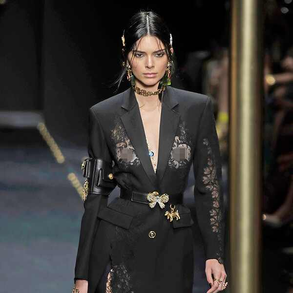 Kendall Jenner, Versace, Milan Fashion Week